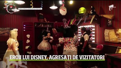 Eroii lui Disney, agresați de vizitatori