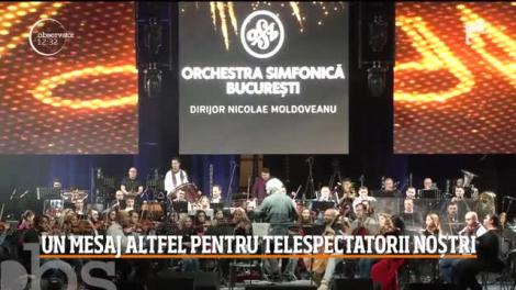 Spectacol fascinant la Sala Palatului! Orchestra Simfonică Bucureşti a susţinut concertul special de Revelion