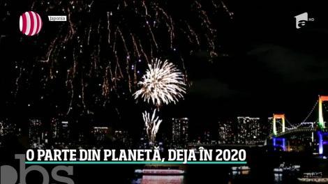 O parte din planetă a intrat, deja, în noul an cu petreceri grandioase