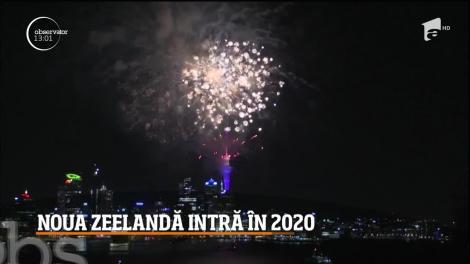 Foc de artificii impresionant! Noua Zeelandă a intrat în anul 2020