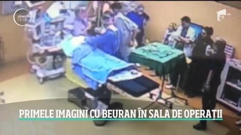 Primele imagini din timpul intervenţiei în care pacienta de 66 de ani a luat foc la spitalul Floreasca. Cum a fost surprins medicul Beuran