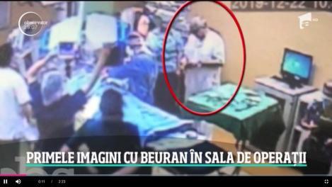 Primele imagini din timpul intervenţiei în care pacienta de 66 de ani a luat foc la spitalul Floreasca