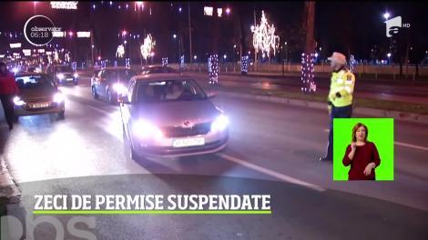 De Sfântul Ion, poliţiştii au ieşit pe stradă, la vânătoare de şoferi care s-au urcat băuţi la volan