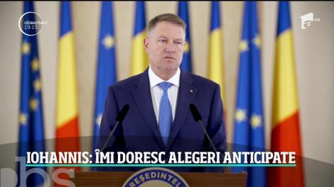 România ar putea avea alegeri anticipate! Chiar preşedintele Klaus Iohannis face anunţul