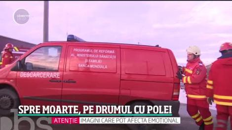 Pe un drum ca un patinoar, doi fraţi din Suceava au alunecat în faţa morţii. Spulberat de tren, unul dintre ei nu a avut salvare