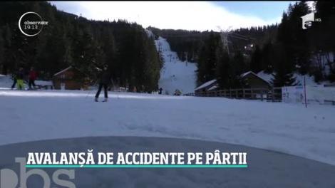Avalanşă de accidente la munte. Peste 100 de apeluri de urgenţă au venit doar în 24 de ore