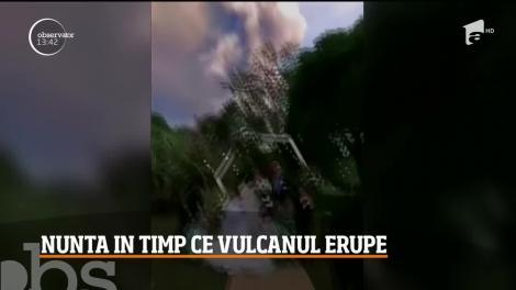 Doi tineri din Filipine şi-au unit destinele exact când vulcanul Taal a început să erupă! Au avut o nuntă spectaculoasă și plină de adrenalină - VIDEO
