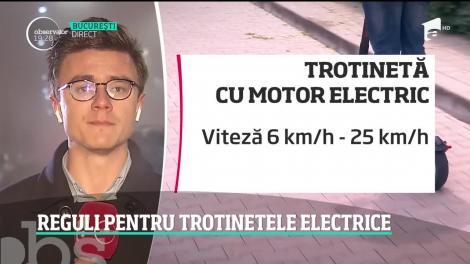 Vom avea reguli pentru trotinetele electrice!