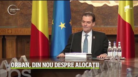După ce s-a consultat cu preşedintele Iohannis la Cotroceni, Ludovic Orban a vorbit din nou despre legea care dublează alocaţiile copiilor