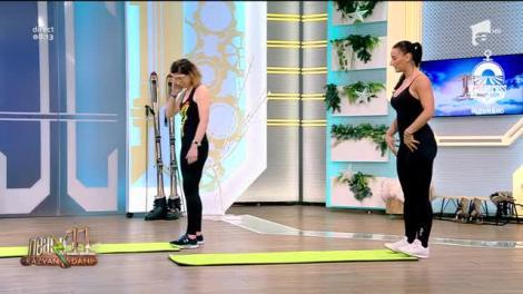 Fitness cu Roxana Chiperi, la Neatza cu Răzvan și Dani. Exerciții de stretching ușoare pentru acasă