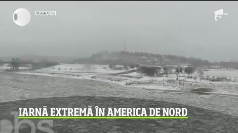 Iarna face ravagii în SUA şi Canada