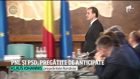 PNL și PSD, pregătite de alegeri anticipate