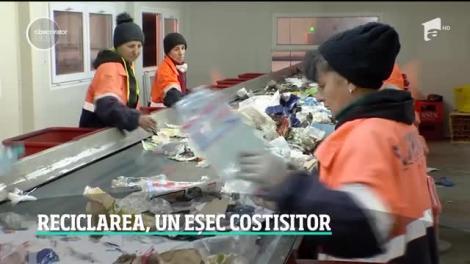 Reciclarea, un eșec costisitor. Românii riscă să plătească sute de mii de euro pe zi