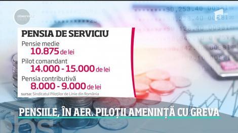 Pensiile piloților, în pericol. Aviatorii nu exclud o eventuală grevă