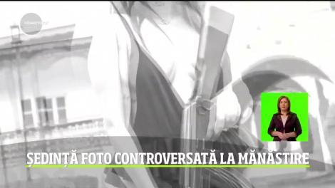 O şedinţă foto controversată în curtea unei mănăstiri se lasă cu plângere penală pentru o elevă din Buzău