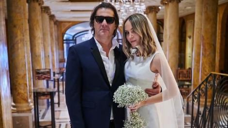 Octavia Geamănu și Marian Ionescu s-au căsătorit religios. Imagini de la fericitul moment