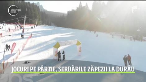 Jocuri pe pârtie la Serbările Zăpezii din stațiunea Durău