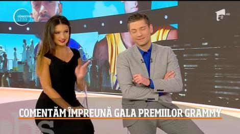 Gala pemiilor Grammy, comentată de Flick şi Răzvan Popescu