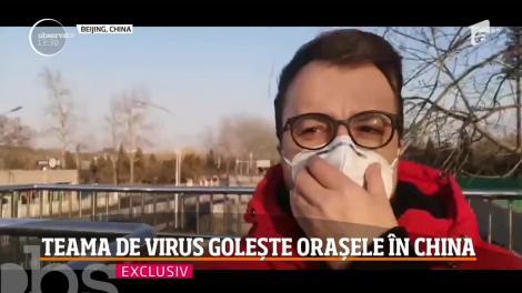 Imagini in exclusivitate! Teama de virus golește orașele în China: Un român a trimis o înregistrare uluitoare