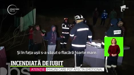 Femeie de 43 de ani din judeţul Botoşani, stropită cu benzină şi incendiată de partenerul ei
