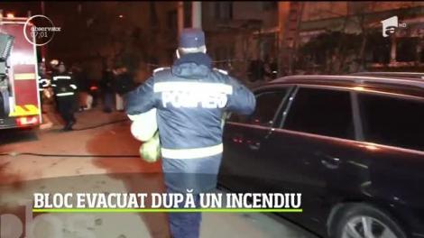 Bloc din Pitești, evacuat după un incendiu
