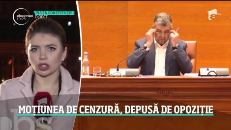 PSD şi UDMR au depus astăzi moţiunea de cenzură