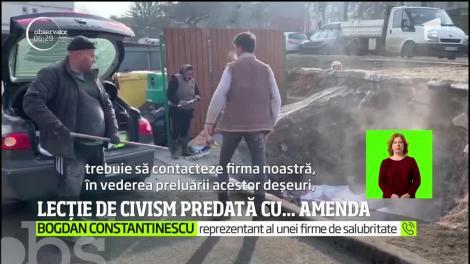 Mai mulţi indivizi din Deva, amendați pentru că au aruncat gunoiul la întâmplare, chiar în oraş
