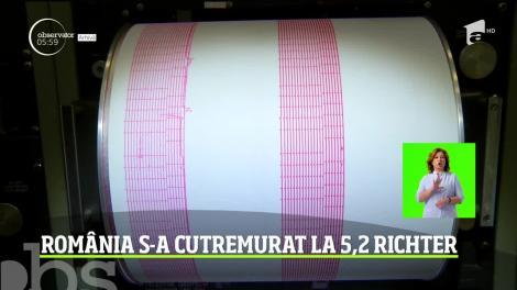 Un cutremur puternic, cu magnitudinea de 5,2 pe Richter, s-a produs în România