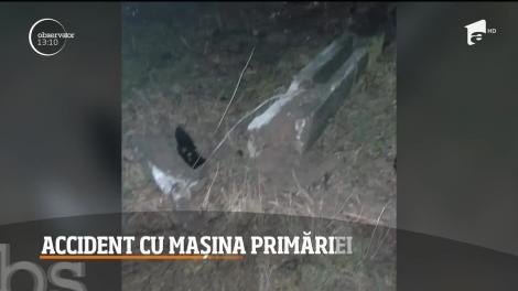 Accident cu maşina Primăriei într-o comună din Maramureş