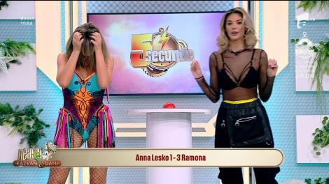 """Duelul blondelor sexy la Provocarea """"5 secunde""""! Cine a câştigat confruntarea dintre Anna Lesko şi Ramona Olaru"""