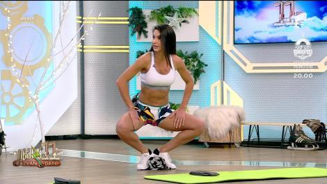 Fitness cu Diana Stejereanu, la Neatza cu Răzvan și Dani. Antrenament inedit cu ajutorul dresurilor şi a unui prosop
