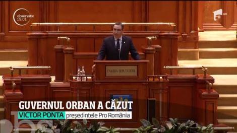 Cabinetul Orban a fost demis prin moţiune de cenzură