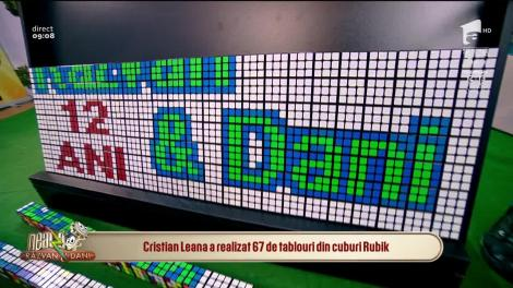 Domnu' Puzzle,  tablou din cuburi rubik cu sigla emisiunii Neatza cu Răzvan și Dani!