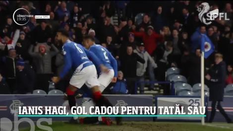 De ziua lui, Gheorghe Hagi a primit un cadou special de la fiul lui. Ianis a înscris primul gol în tricoul celor de la Glasgow Rangers