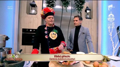 Cu ce ne propune Vlăduț, bucătarul de la Neatza cu Răzvan şi Dani să ne delectăm simțurile într-o zi de iarnă autentică? Cu o delicioasă Ciorbă de afumătură și murături