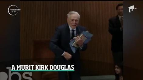 Kirk Douglas, o legendă a cinematografiei, s-a stins din viaţă la vârsta de 103 ani. Lasă în urmă 90 de roluri şi o viaţă de film
