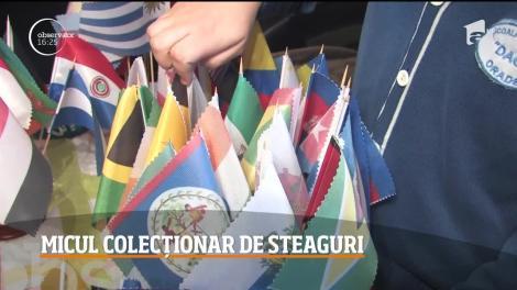 Un elev din Bihor are o pasiune neobișnuită! Hobby-ul său este să colecţioneze steagurile lumii