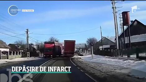 Moarte cumplită, evitată la câteva secunde. Un șofer de 70 de ani a evitat, la limită, o tragedie, în Suceava - VIDEO