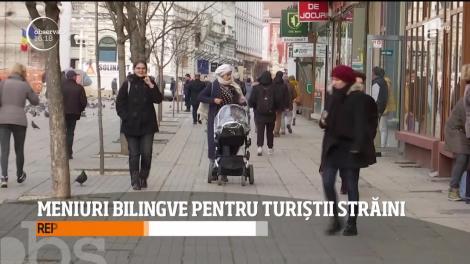 Meniuri bilingve pentru turiștii din Timişoara
