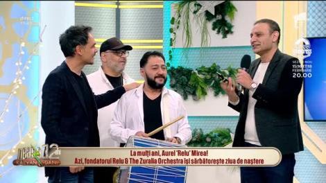 Relu și The Zuralia Orchestra fac spectacol cu piesele lor în platoul de la Neatza cu Răzvan și Dani