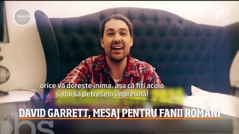 David Garrett vine din nou în România. Ce mesaj le-a transmis fanilor români