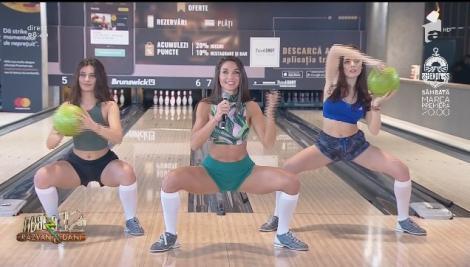 Fitness cu Diana Stejereanu, la Neatza cu Răzvan și Dani. Antrenament cu bila de bowling