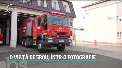 Un pompier din Satu Mare s-a fotografiat cu fiul său de numai câţiva ani, lângă o autospecială. 20 de ani mai târziu, băiatul a preluat ștafeta de la tatăl său
