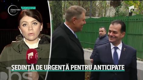 Klaus Iohannis, ședință de urgență pentru alegeri anticipate