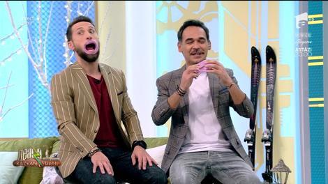 """""""Gura mare!"""". Codin Maticiuc a fost făcut fericit de Ramona Olaru! Răzvan Simion și Dani Oțil n-au avut niciodată guri mai mari! Video"""