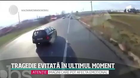 Tragedie evitată în ultimul moment drumul dinspre Târgu Frumos spre Iași
