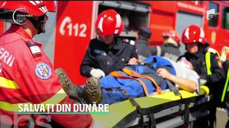 Misiune pe viaţă şi pe moarte în Dunăre! Doi bărbaţi erau în pericol să moară îngheţaţi. Misiunea spectaculoasă de salvare a fost filmată - VIDEO