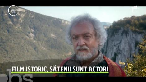 Film istoric, sătenii sunt actori. Filmul se numește Egregora - comoara pierdută, iar personajul principal este Vlad Țepeș
