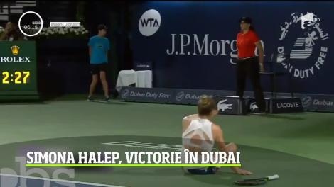 Simona Halep a câştigat turneul din Dubai. Sportiva româncă şi-a adjudecat titlul în două seturi