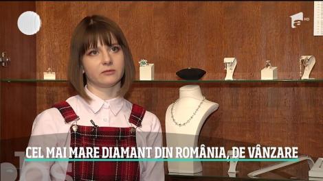 Cel mai mare diamant din România este scos la vânzare cu o sumă ameţitoare